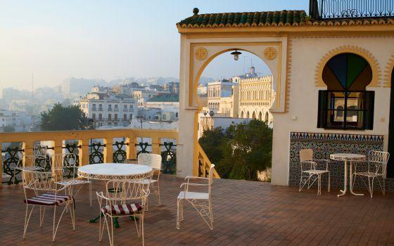 Terraza del hotel Continental, en Tánger, Marruecos