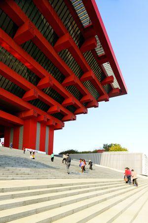 El pabellón de China, construido con ocasión de la Expo 2010 de Shanghái.