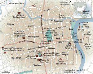 Mapa de Shanghái.