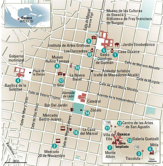 24 horas en Oaxaca, el mapa