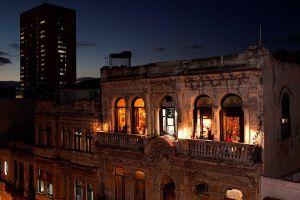 Terraza del restaurante La Guarida, en La Habana.