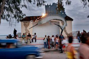 Asistentes al Festival Internacional de Cine Pobre, en Gibara (Cuba).