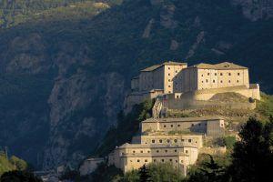 Fort Bard, en el valle de Aosta, en los Alpes.