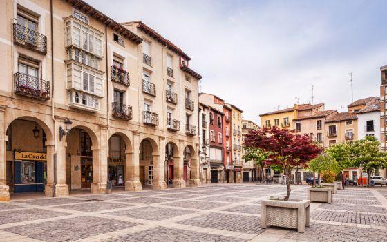 Plaza del Mercado, en Logroño
