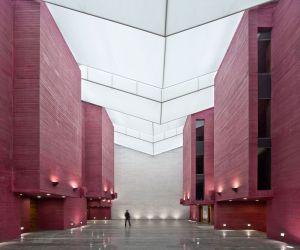 Una de las salas del Centro Cultural del Rioja, en Logroño.