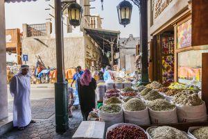 Mercado de las especias en el barrio de Deira, en Dubái.