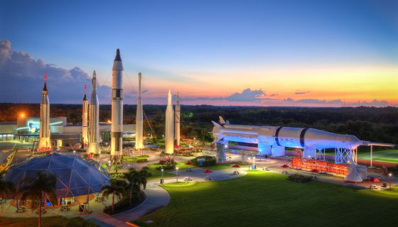 El transbordador espacial Atlantis, expuesto en el Kennedy Space Center.