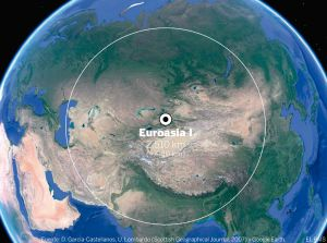Polo de inacessibilidade da Eurásia, perto da fronteira entre a China e o Cazaquistão.