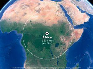 Na África, o polo de inacessibilidade fica junto ao povoado de Obo, perto da tríplice fronteira entre Sudão do Sul, República Centro-Africana e República Democrática do Congo
