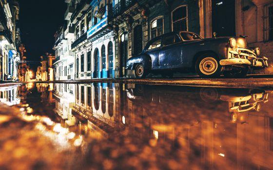 Una calle de La Habana Vieja, en Cuba.