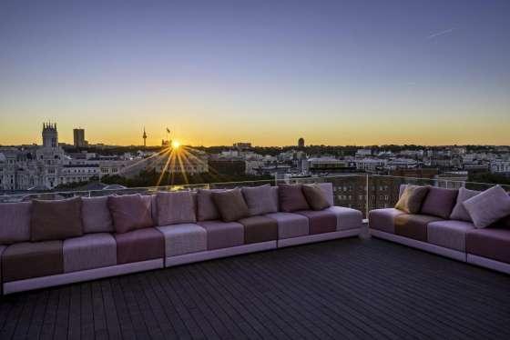 Vista de Madrid desde la terraza del Hotel Suecia.
