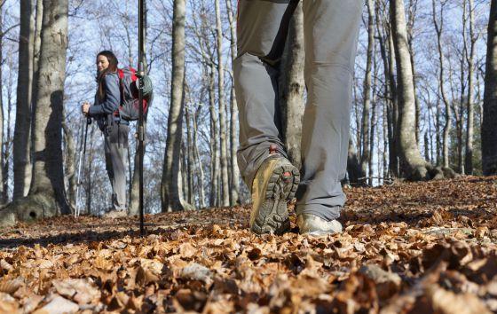 Excursionistas en el parque natural del Montseny, en la provincia de Barcelona.