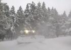 Atracón de nieve en las pistas de esquí