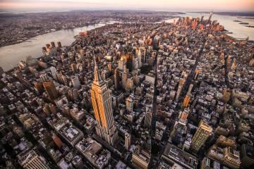Vista aérea del Empire State Building, en la isla de Manhattan (Nueva York).