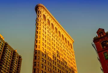La fachada del Flatiron, en Nueva York.