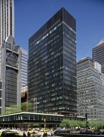 La Lever House, del estudio Skidmore, Owings and Merrill, en el Midtown de Manhattan (Nueva York).