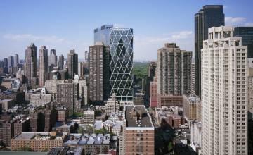 La torre Hearst, en el centro de la imagen, de Foster & Partners, en Nueva York.