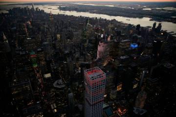La azotea de la torre residencial 432 Park Avenue, en Manhattan.