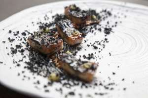 Anguila 'kabayaki', en el restaurante japonés 47 Ronin (Madrid).