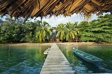 'Resort' en la isla de Bastimentos, en la provincia de Bocas del Toro (Panamá).