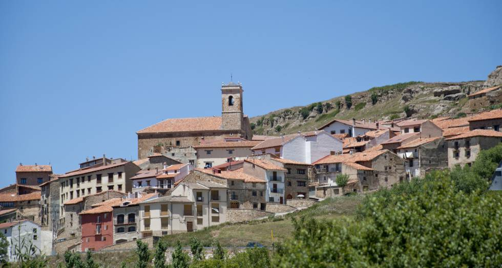 Valdelinares in Teruel province, the highest village in Spain.
