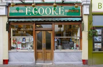 Exterior del restaurante F. Cooke, en Hackney (Londres).