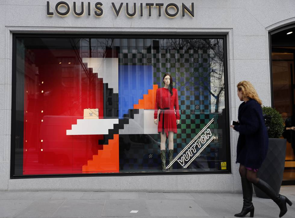 Fachada de la 'boutique' de Louis Vuitton (Serrano, 66).