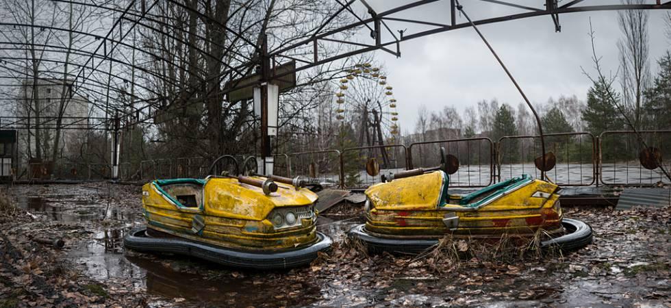 Parque de atracciones en Pripyat, cerca de la central de Chernóbil (Ucrania).