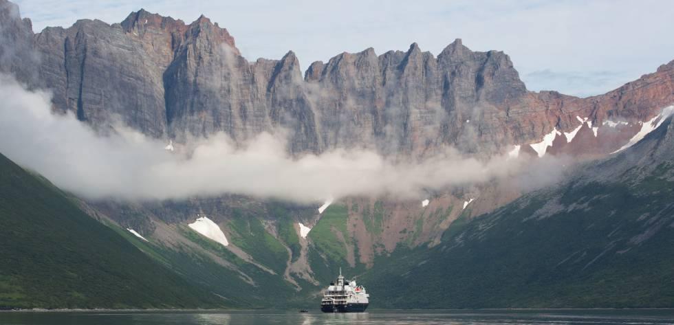 Un crucero de Silversea en Castle Bay, en Alaska.