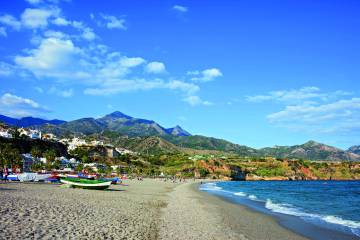 Burriana Beach in Malaga province.