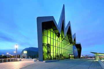 Riverside Museum of Transport, en Glasgow, obra de Zaha Hadid.