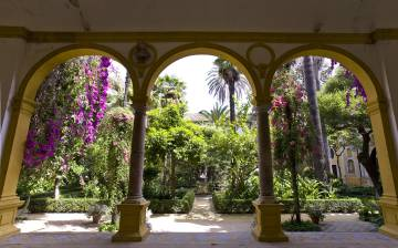 Patio de la Casa Pilatos, en Sevilla.