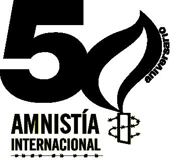 Logotipo 5 aniversario Amnisitia Internacional