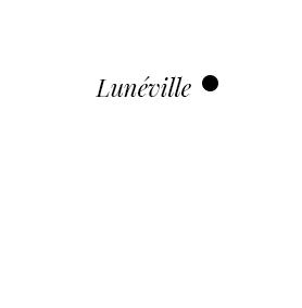 Mapa con Lunéville