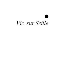 Mapa con Vic-sur-Seille