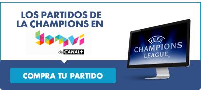 Todos los partidos de Liga de Campeones en Canal Plus