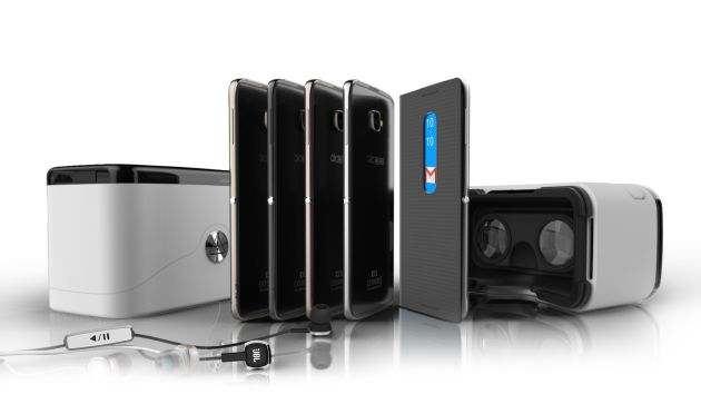 Nuevos Idol 4 de Alcatel con los accesorios de gafas de realidad virtual.