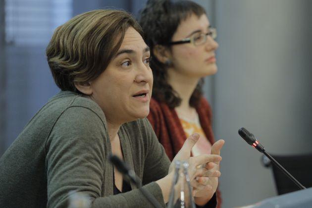 La alcaldesa de Barcelona, Ada Colau, esta mañana.