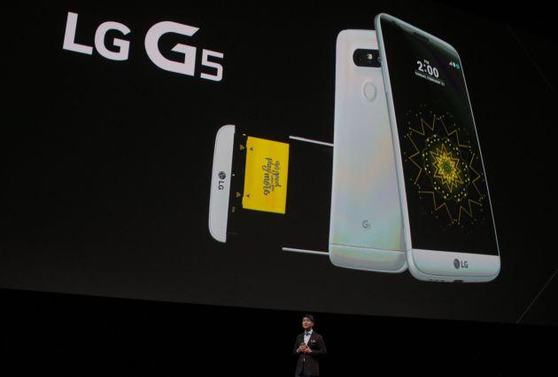 LG G5 en el MWC de Barcelona