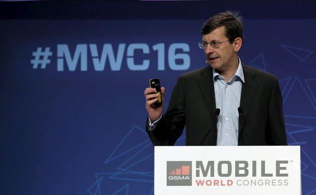 Vittorio Colao, durante su intervención en el Mobile World Congress.