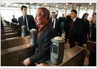 El alcalde de Nueva York inaugura la nueva estación de cercanías de World Trade Center