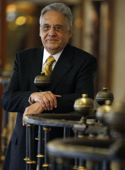 El ex presidente brasileño Fernando Henrique Cardoso, momentos antes de la entrevista.