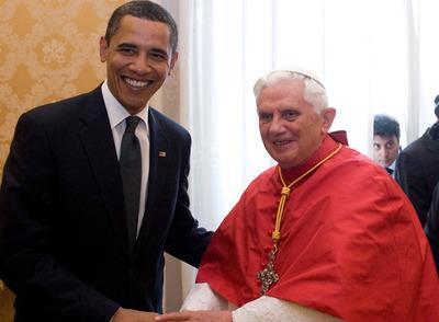 Benedicto XVI recibe a Barack Obama en El Vaticano