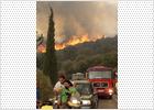 Cerca de 3.500 personas evacuadas por los incendios en Grecia