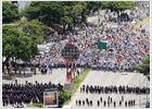 Marchas a favor y en contra de la ley de Educación de Chávez en Caracas