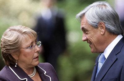 Bachelet felicita a Piñera al día siguiente de su victoria, en enero