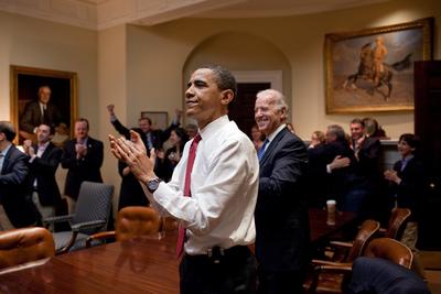FOTOGALERIA: Obama celebra la aprobación de la reforma sanitaria