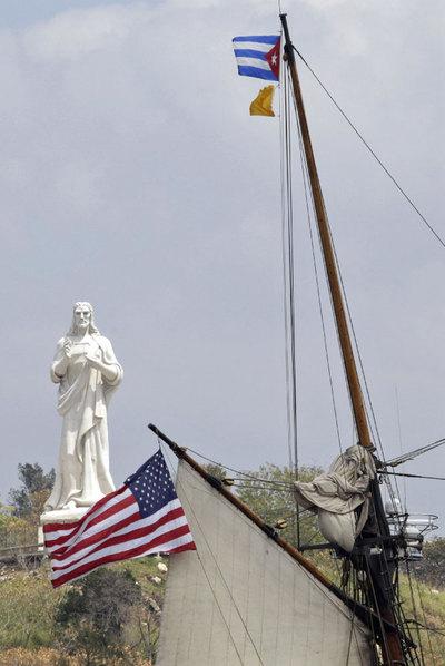 El barco 'Amistad' conmemora en Cuba el día de las víctimas de la esclavitud