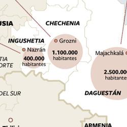 El Cáucaso: la zona más conflictiva de Rusia