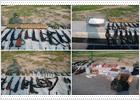 El Ejército mexicano encuentra un arsenal en Matamoros